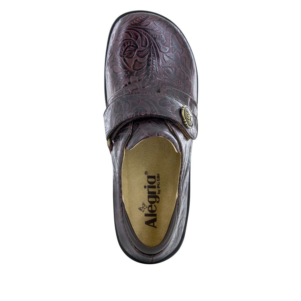 Joleen Molasses Tooled Professional Shoe - Alegria Shoes - 4