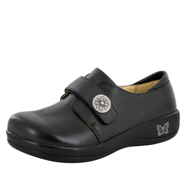 Joleen Black Nappa Professional Shoe - Alegria Shoes - 1