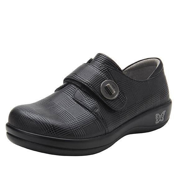 Joleen Plaidly Professional Shoe with adjustable strap on the Career Casual outsole - JOL-7854_S1