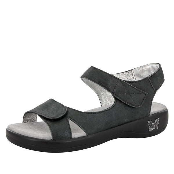 Joy Black Easy Sandal - Alegria Shoes - 1