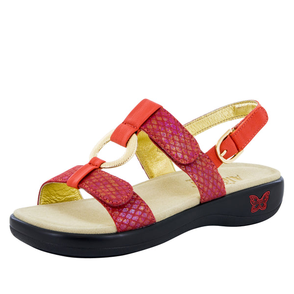 Julie Cherry Sandal - Alegria Shoes - 1