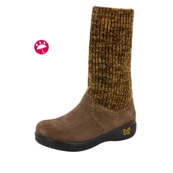 Juneau Choco Gold Water-Resistant Boot - Alegria Shoes - 1