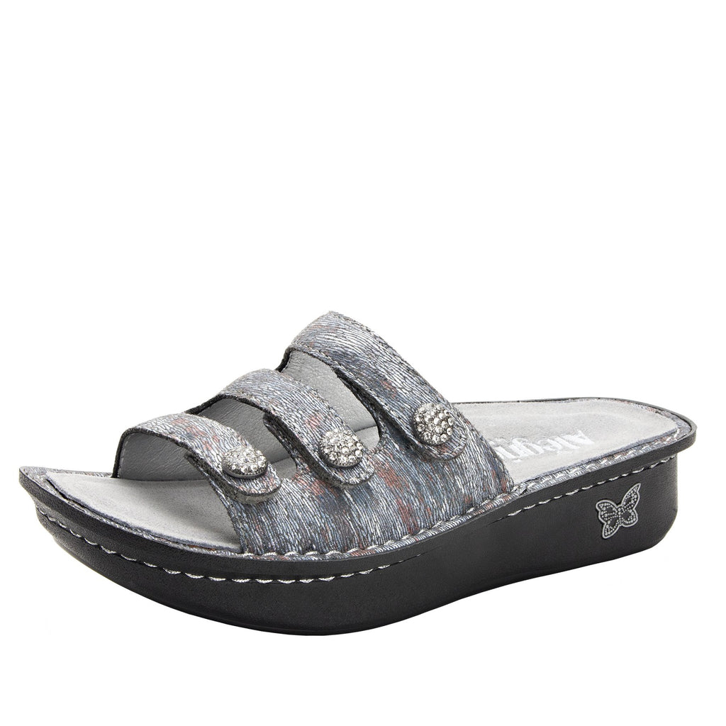 Kacee Smoke triple strap sandal on classic rocker outsole - KAC-123_S1