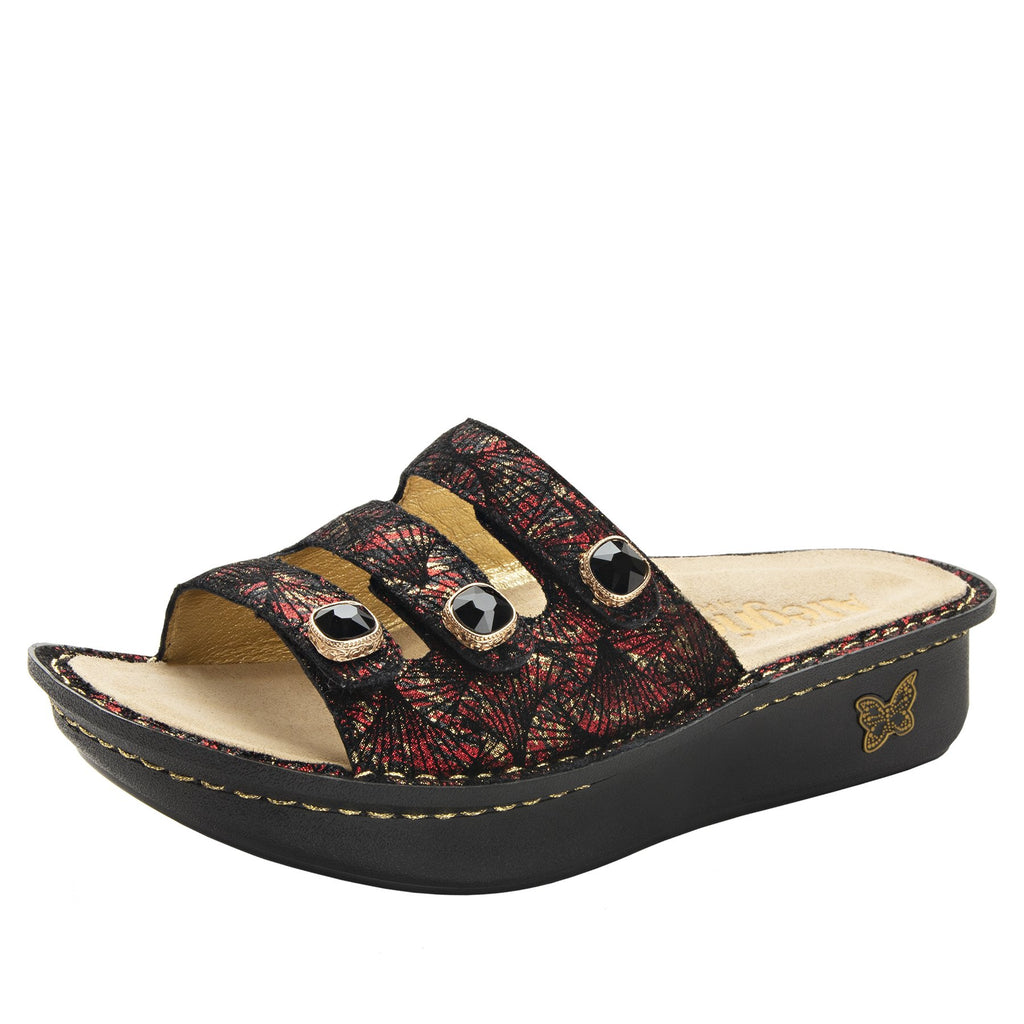 Kacee Drama triple strap sandal on classic rocker outsole - KAC-274_S1