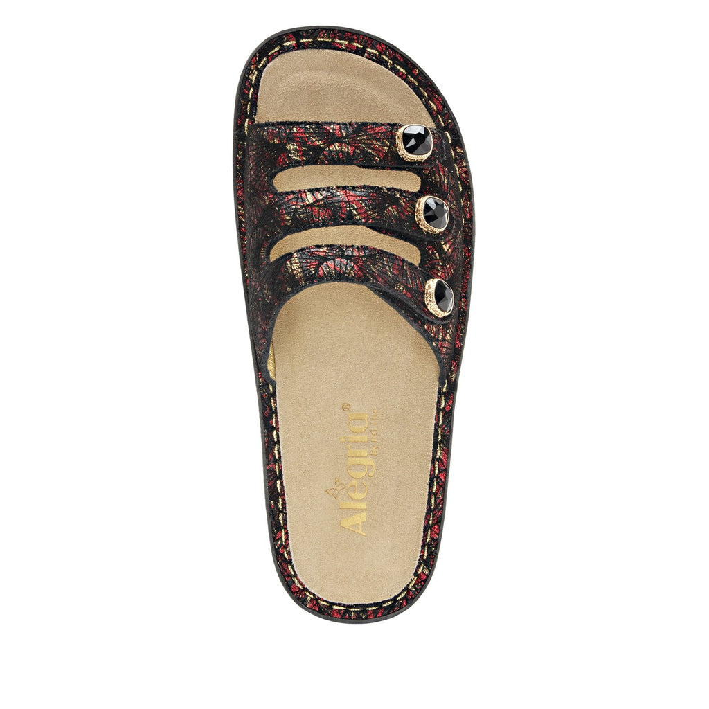 Kacee Drama triple strap sandal on classic rocker outsole - KAC-274_S4