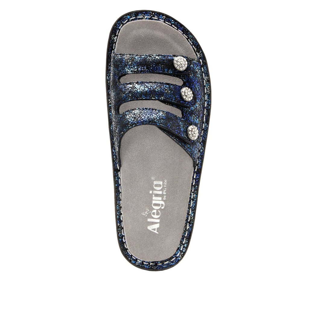Kacee Magnetic triple strap sandal on classic rocker outsole - KAC-794_S4