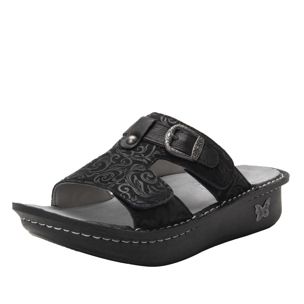 Kasha Ivy two-strap slide sandal on classic rocker outsole- KAS-7715_S1