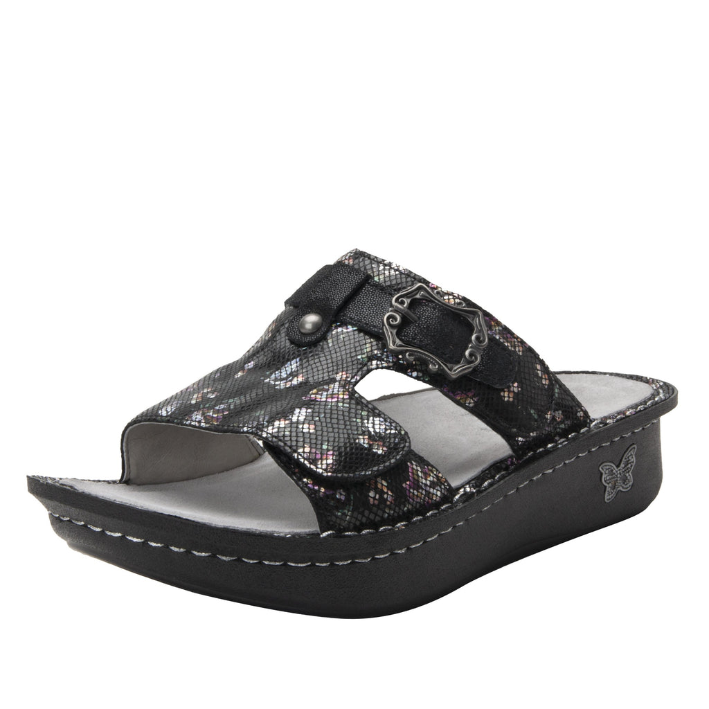 Kasha Ritz two-strap slide sandal on classic rocker outsole- KAS-7718_S1