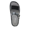 Keara Pretty Patina Slide Sandal with accomodating neoprene panel and hook and loop closure on Classic rocker outsole - KEA-887_S4