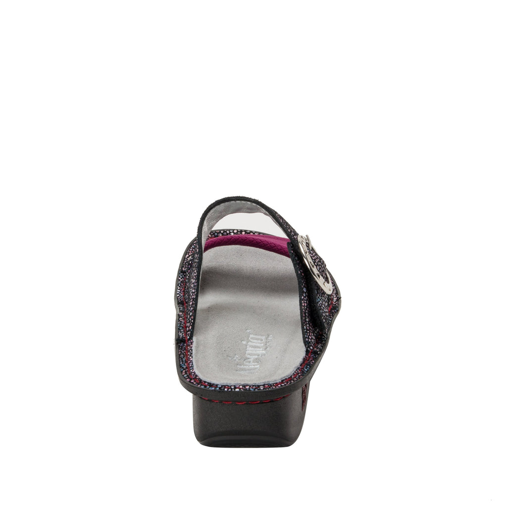 Keara Plum Multi Slide Sandal with accomodating neoprene panel and hook and loop closure on Classic rocker outsole - KEA-935_S3 (1938780979254)