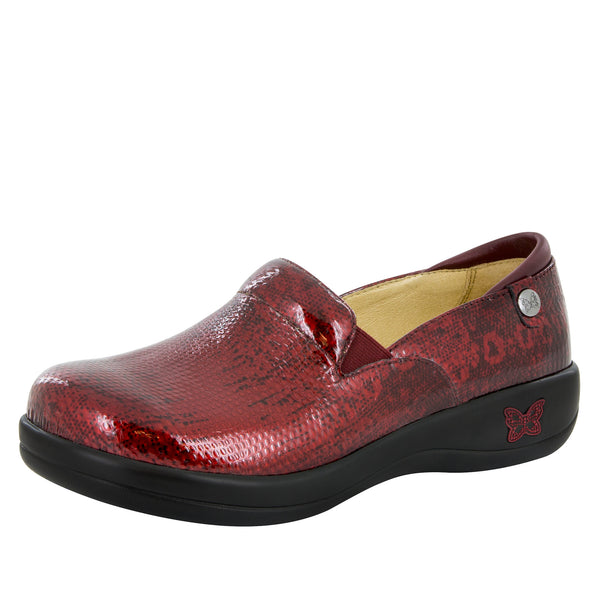 Keli Garnet Snake Professional Shoe - Alegria Shoes - 1