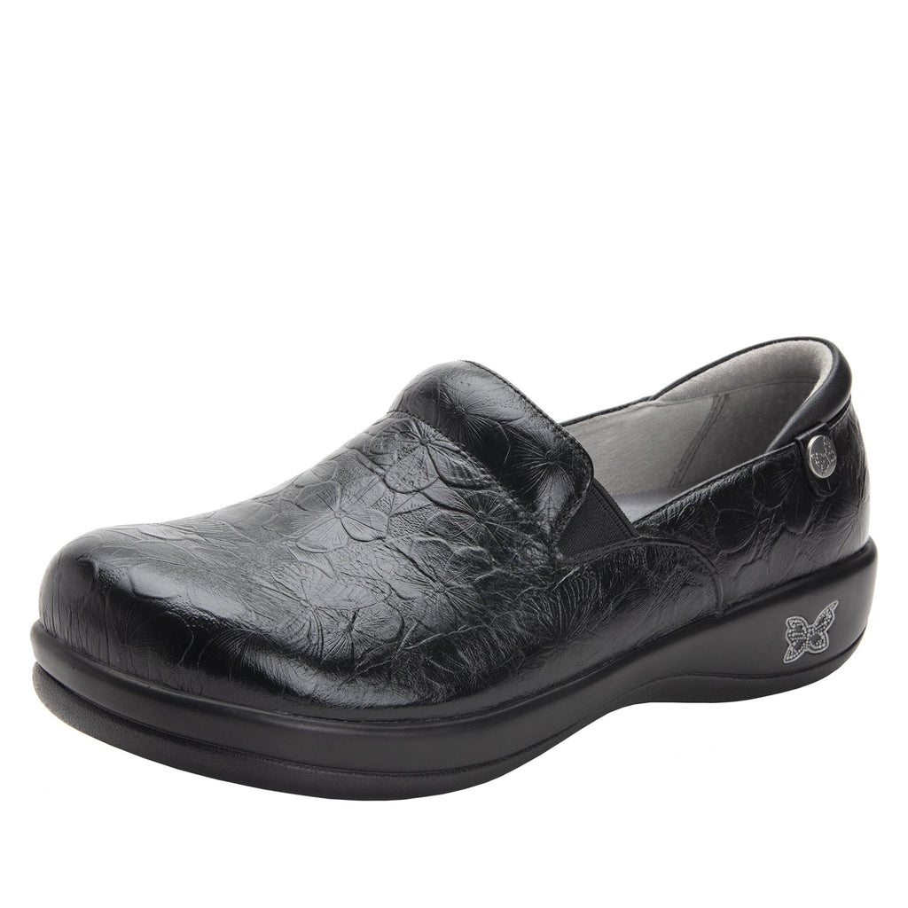 Keli Flutter Black slip on style shoe with career casual outsole - KEL-274_S1
