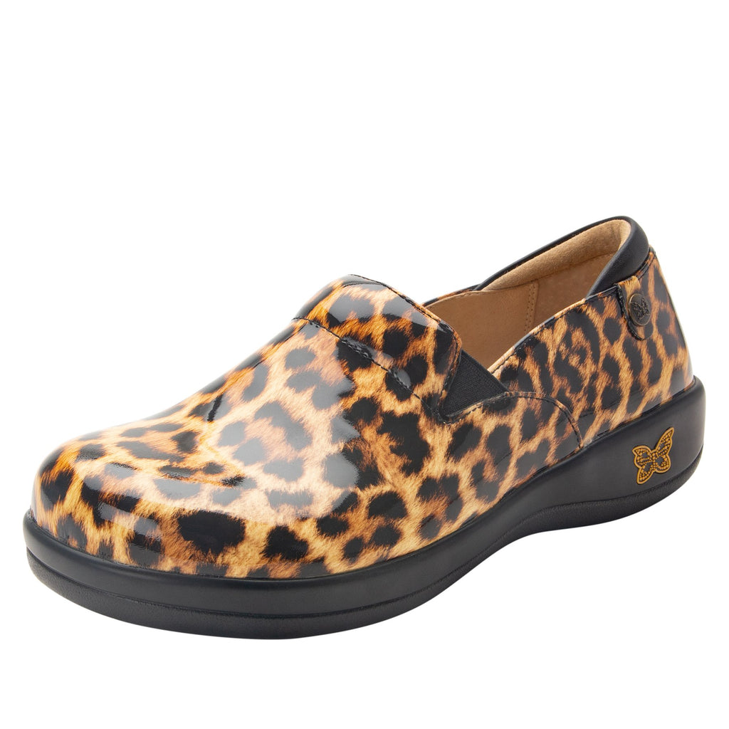 Keli Leopard slip on style shoe with career casual outsole - KEL-402_S1