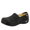 Keli Black Embossed Paisley Professional Shoe - Alegria Shoes - 1
