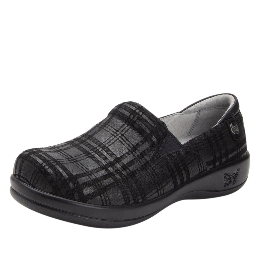 Keli Plaid To Meet You slip on style shoe with career casual outsole - KEL-597_S1 (2210563620918)