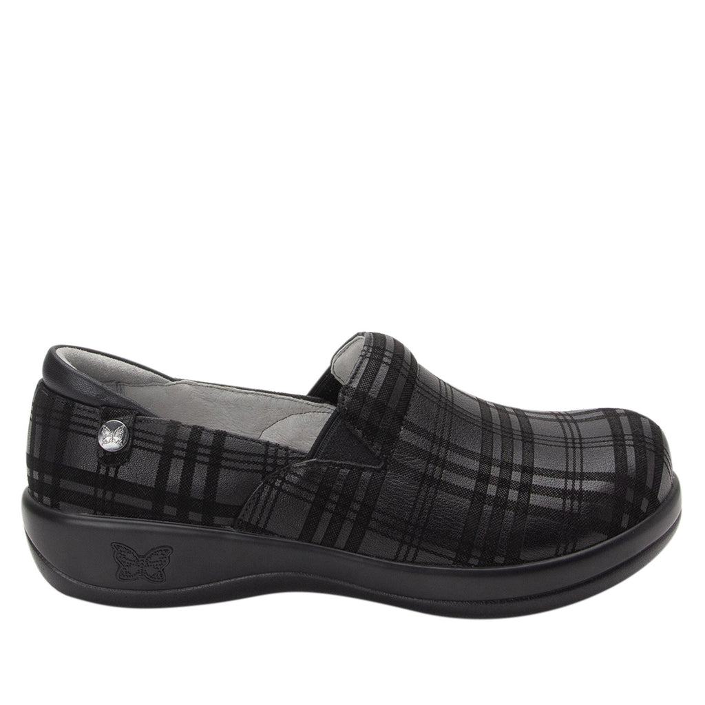 Keli Plaid To Meet You slip on style shoe with career casual outsole - KEL-597_S2 (2210563620918)