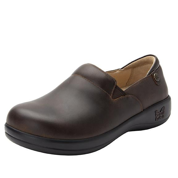 Keli Oiled Brown slip on style shoe with career casual outsole - KEL-6201_S1