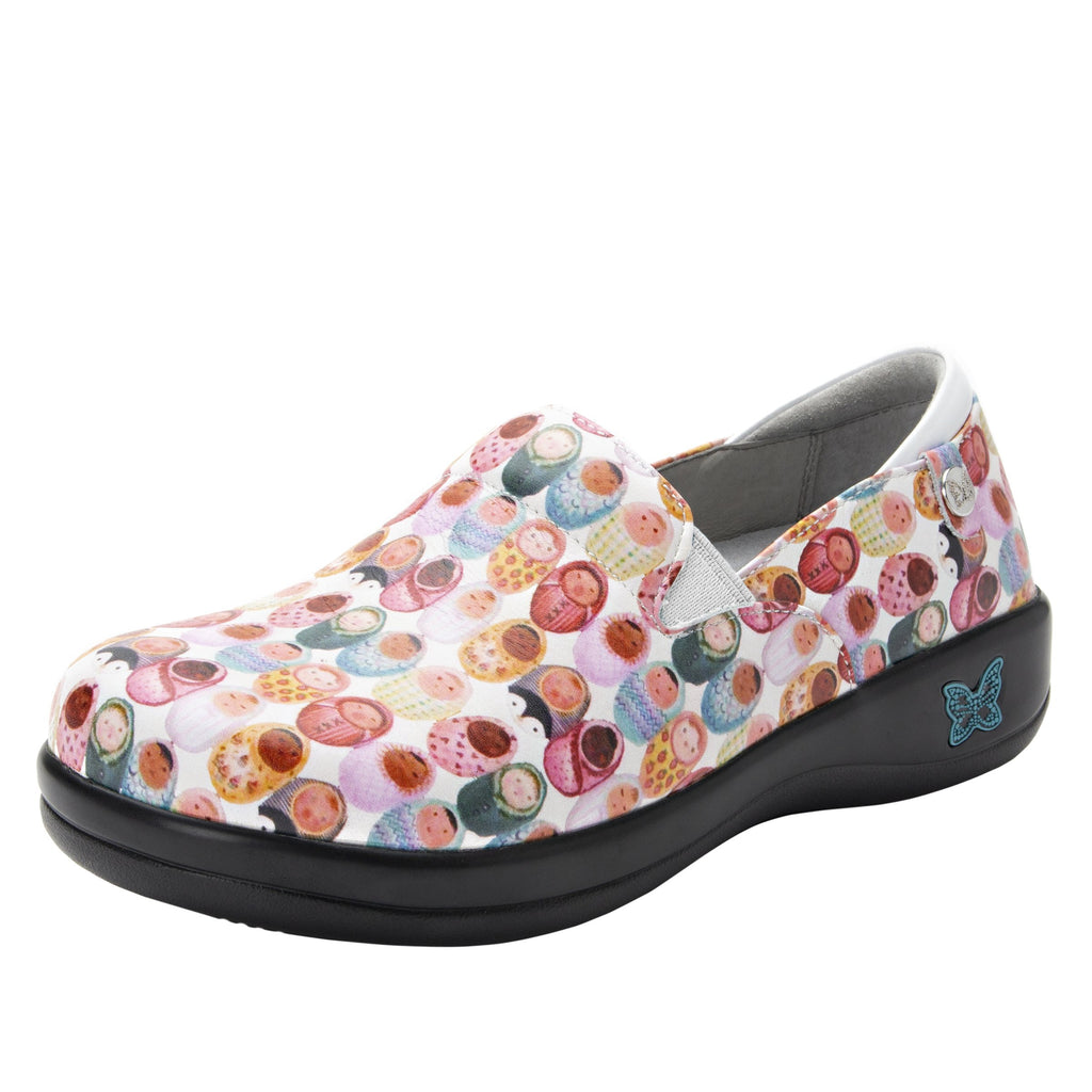 Keli Fresh Baked White slip on style shoe with career casual outsole - KEL-7841_S1