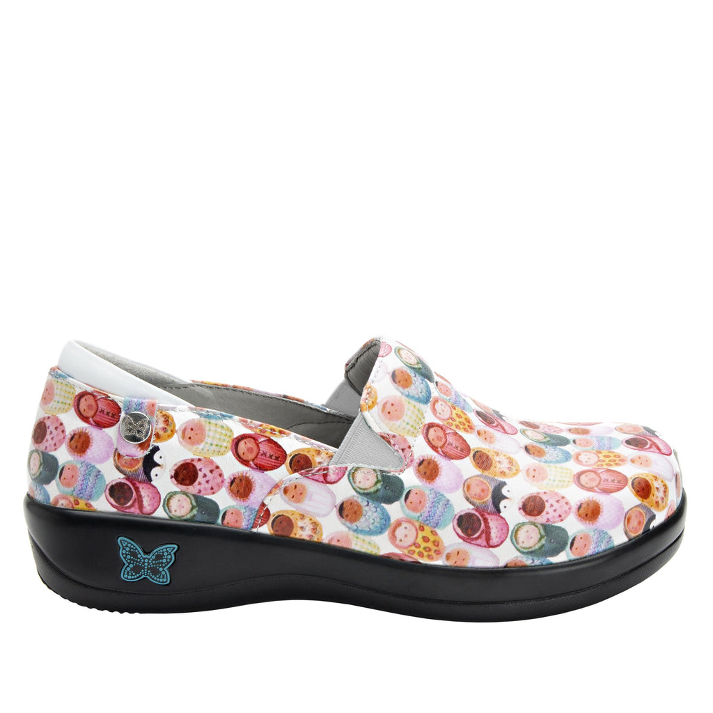 Keli Fresh Baked White slip on style shoe with career casual outsole - KEL-7841_S2