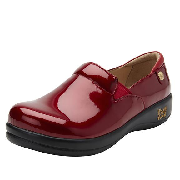 Keli Cherry Bomb Patent slip on style shoe with career casual outsole - KEL-7844_S1