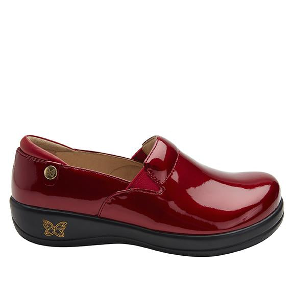 Keli Cherry Bomb Patent slip on style shoe with career casual outsole - KEL-7844_S2