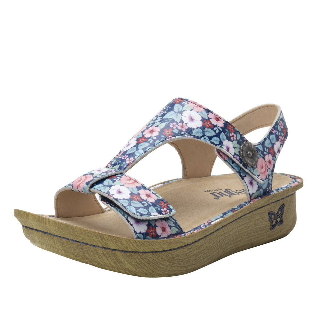 Kerri Springer t-strap sandal on classic rocker outsole - KER-7707_S1