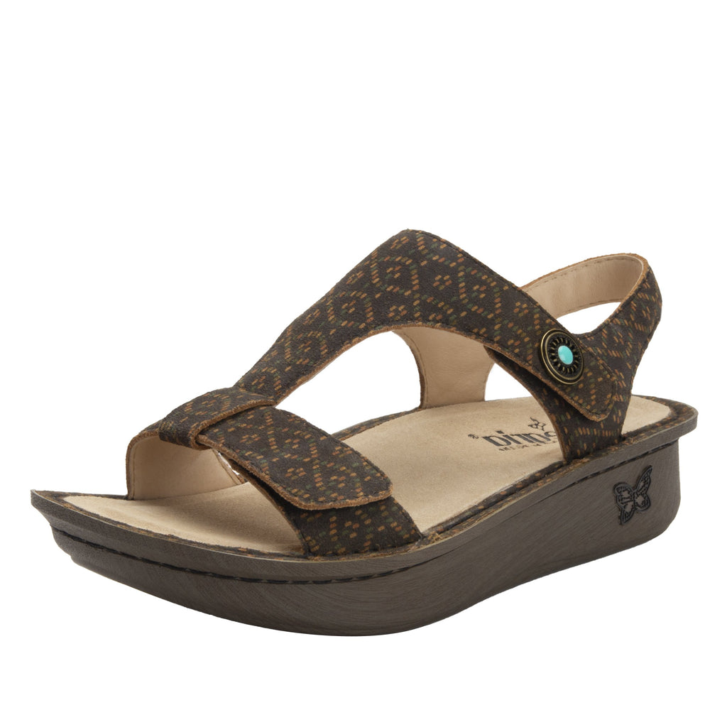 Kerri Tribe Called Cutie t-strap sandal on classic rocker outsole - KER-7749_S1