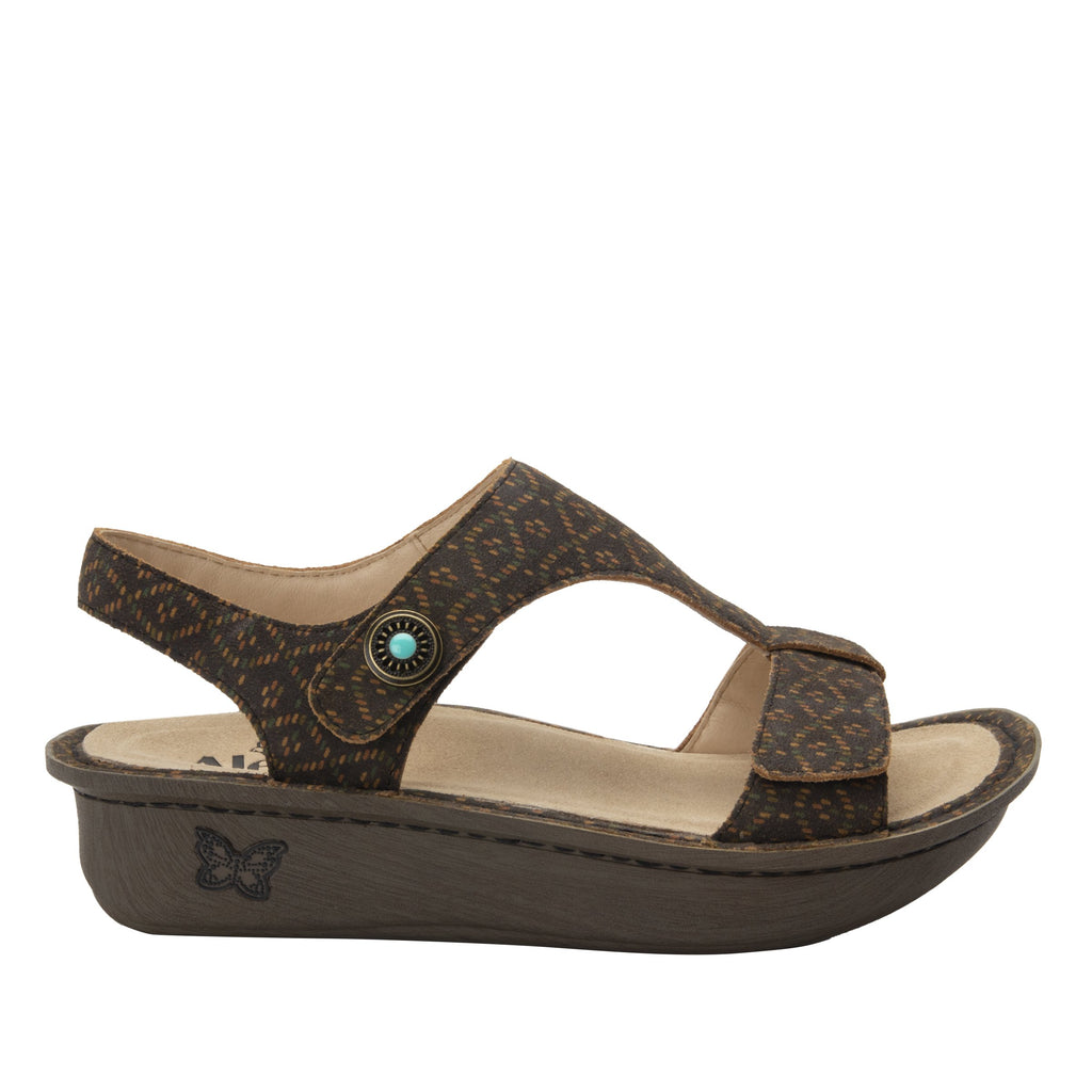 Kerri Tribe Called Cutie t-strap sandal on classic rocker outsole - KER-7749_S3