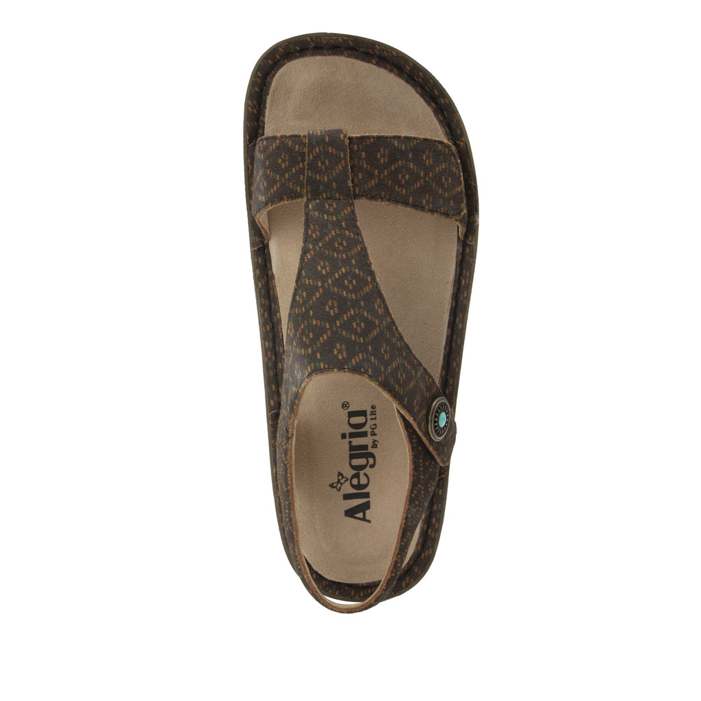 Kerri Tribe Called Cutie t-strap sandal on classic rocker outsole - KER-7749_S5