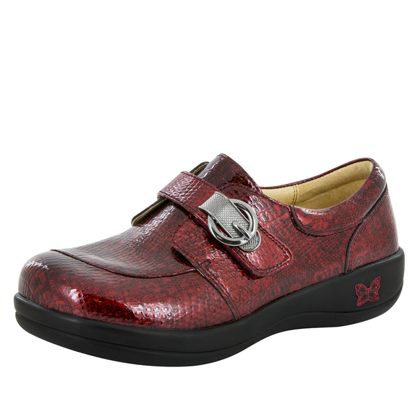 Khloe Garnet Snake Professional Shoe - Alegria Shoes - 1