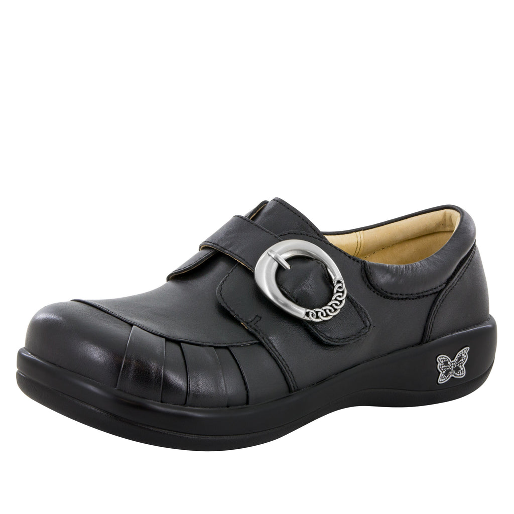 Khloe Black Nappa Professional Shoe - Alegria Shoes - 1