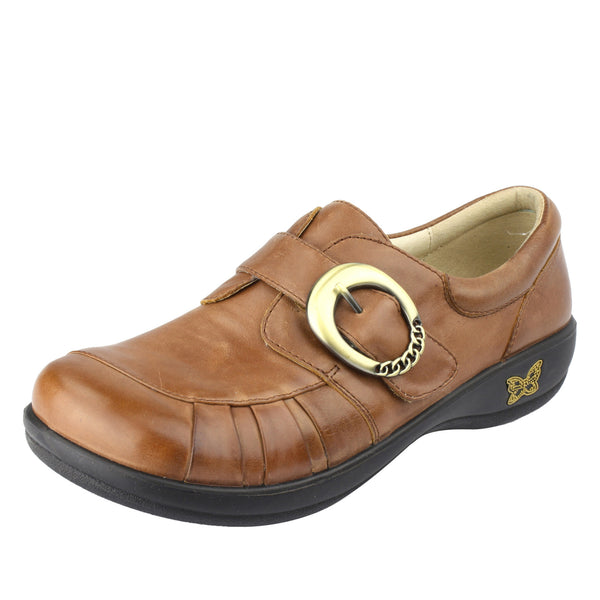 Khloe Burnish Brown Professional Shoe - Alegria Shoes