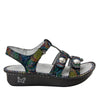Kleo Rainbow Cyclone Gladiator Sandal with three hook and loop closure on Classic rocker outsole - KLE-493_S2