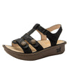 Kleo Finely Gladiator Sandal with three hook and loop closure on Classic rocker outsole - KLE-495_S1