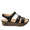 Kleo Finely Gladiator Sandal with three hook and loop closure on Classic rocker outsole - KLE-495_S2