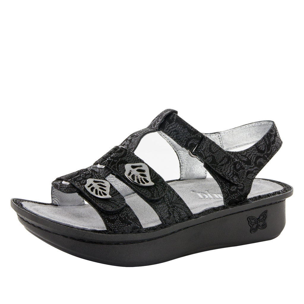 Kleo Black Leaf Sandal (8992547597)