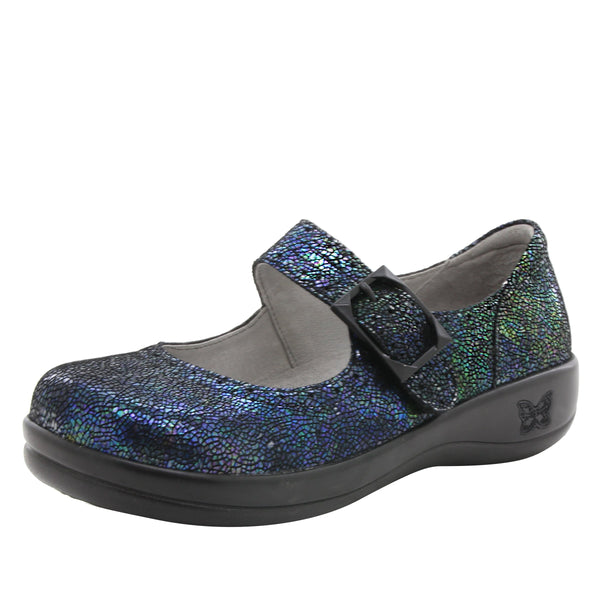Kourtney mary-jane shoe with decorative buckle ornamentation on career casual outsole - KOU-182_S1