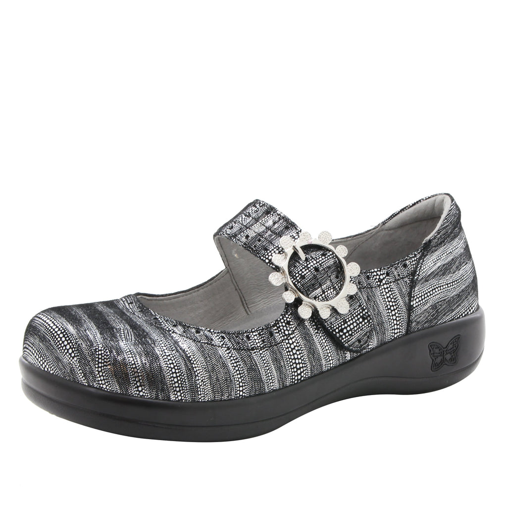 Kourtney mary-jane shoe with decorative buckle ornamentation on career casual outsole - KOU-496_S1