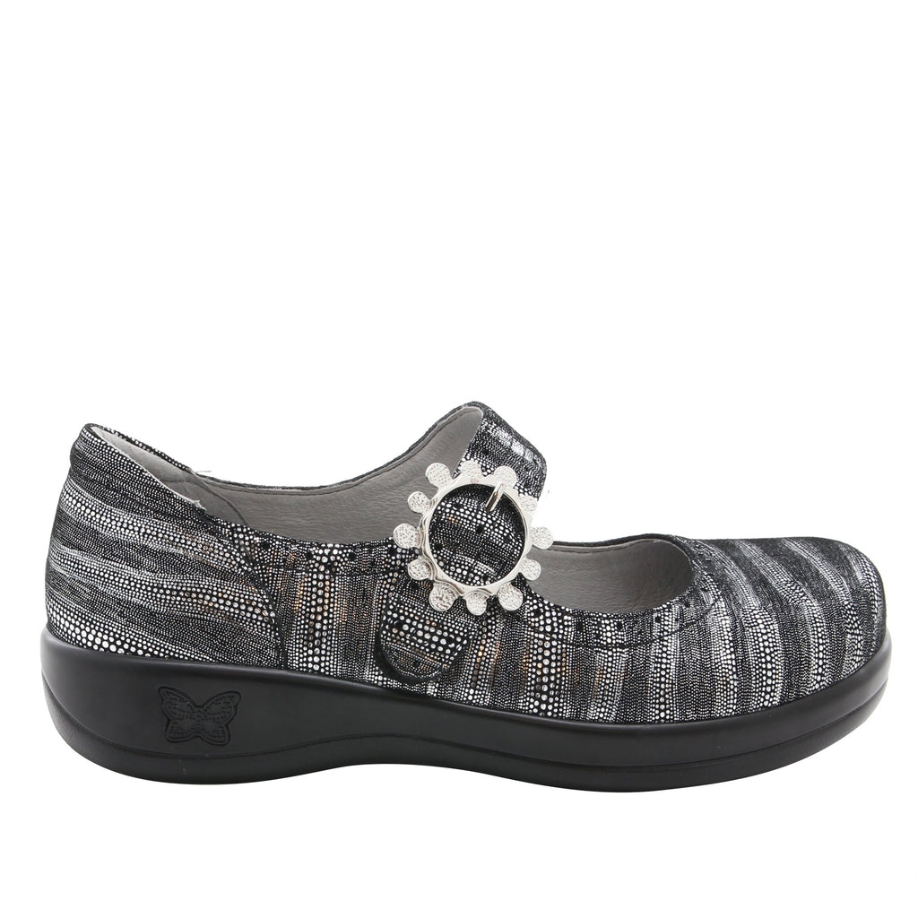 Kourtney mary-jane shoe with decorative buckle ornamentation on career casual outsole - KOU-496_S2
