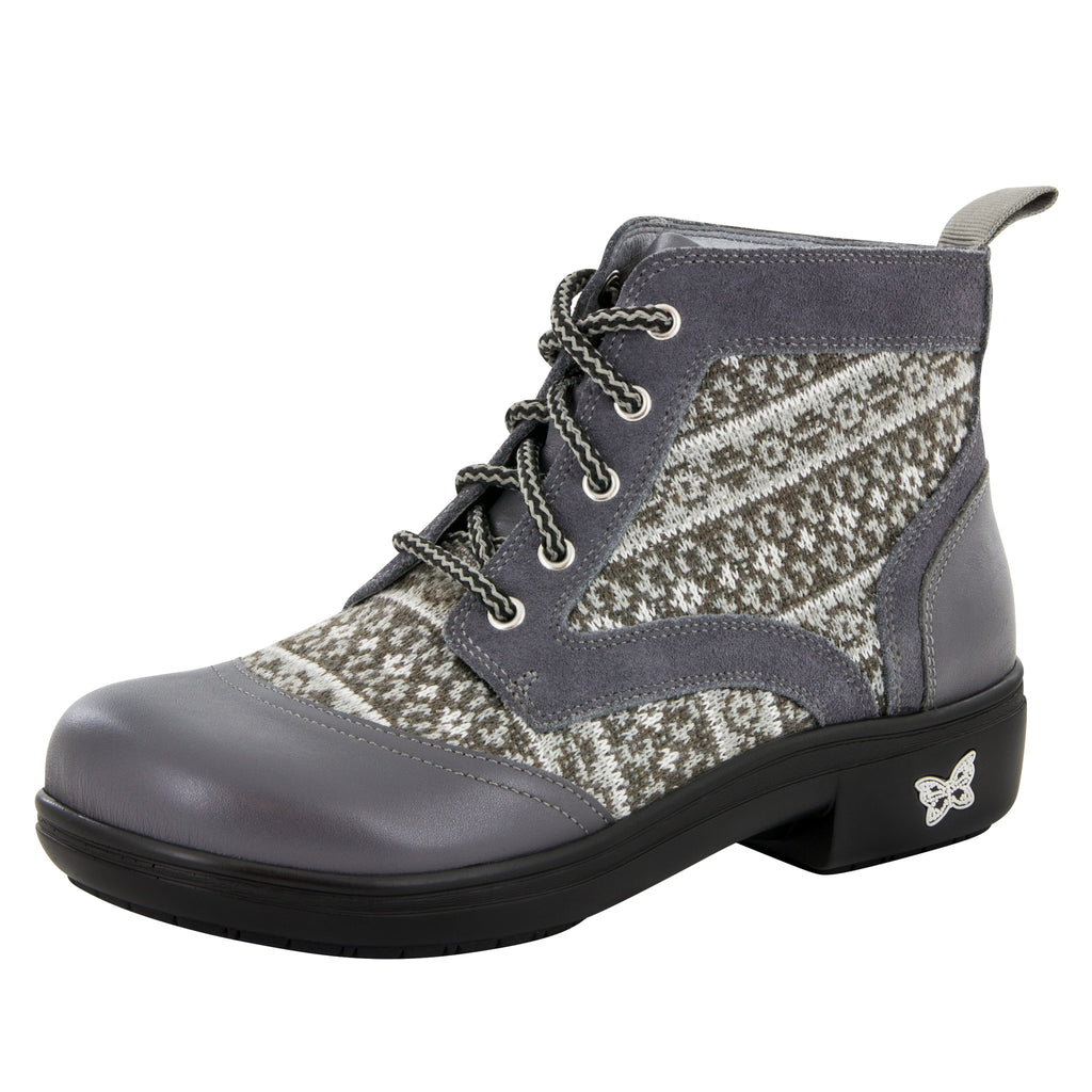 Kylie Snuggy Grey Boot - Alegria Shoes - 1 (6051674753)