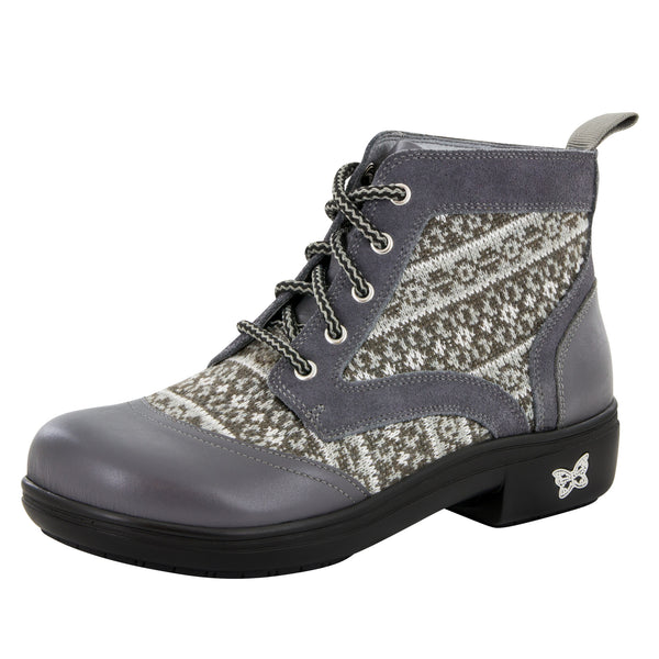 Kylie Snuggy Grey Boot - Alegria Shoes - 1