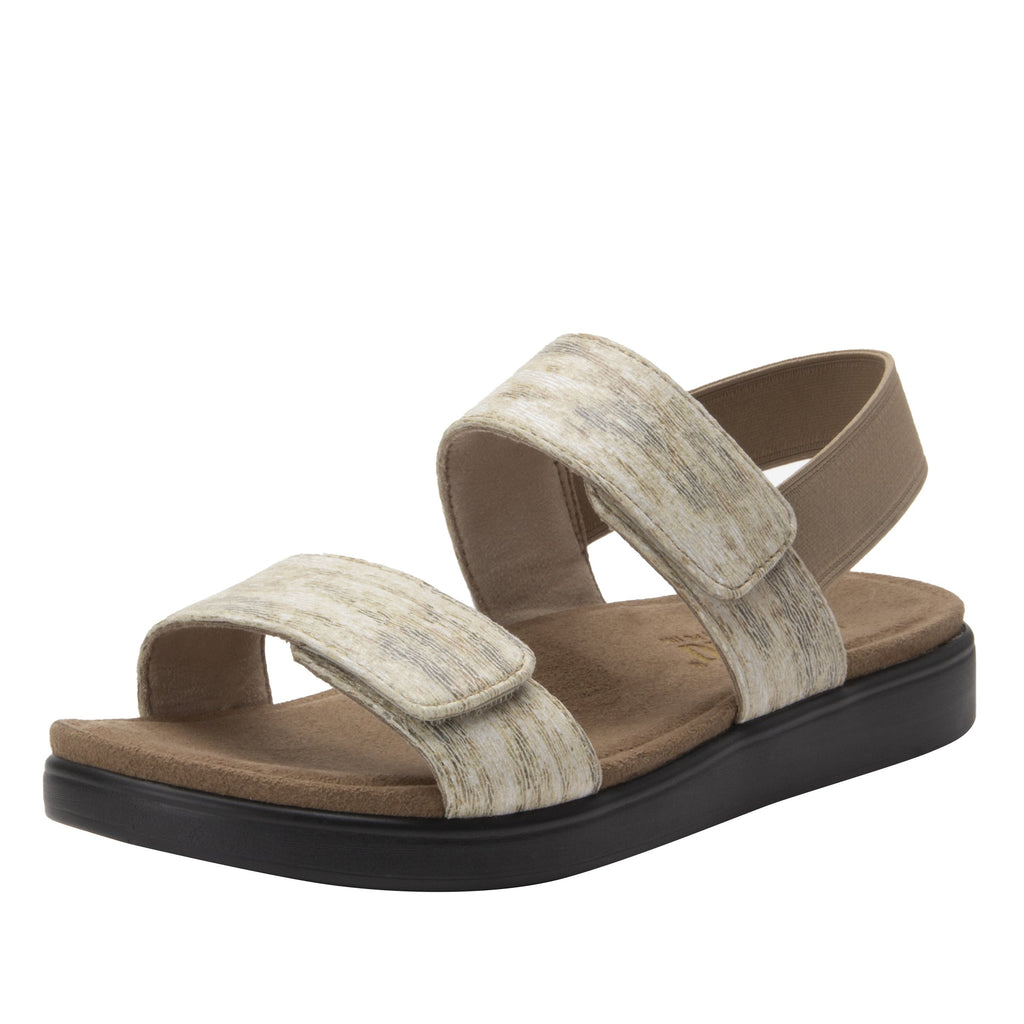 Leah Sands Comfort Flat sandal with two adjustable hook and loop closures and featherweight slip-resistance - LEA-7762_S1