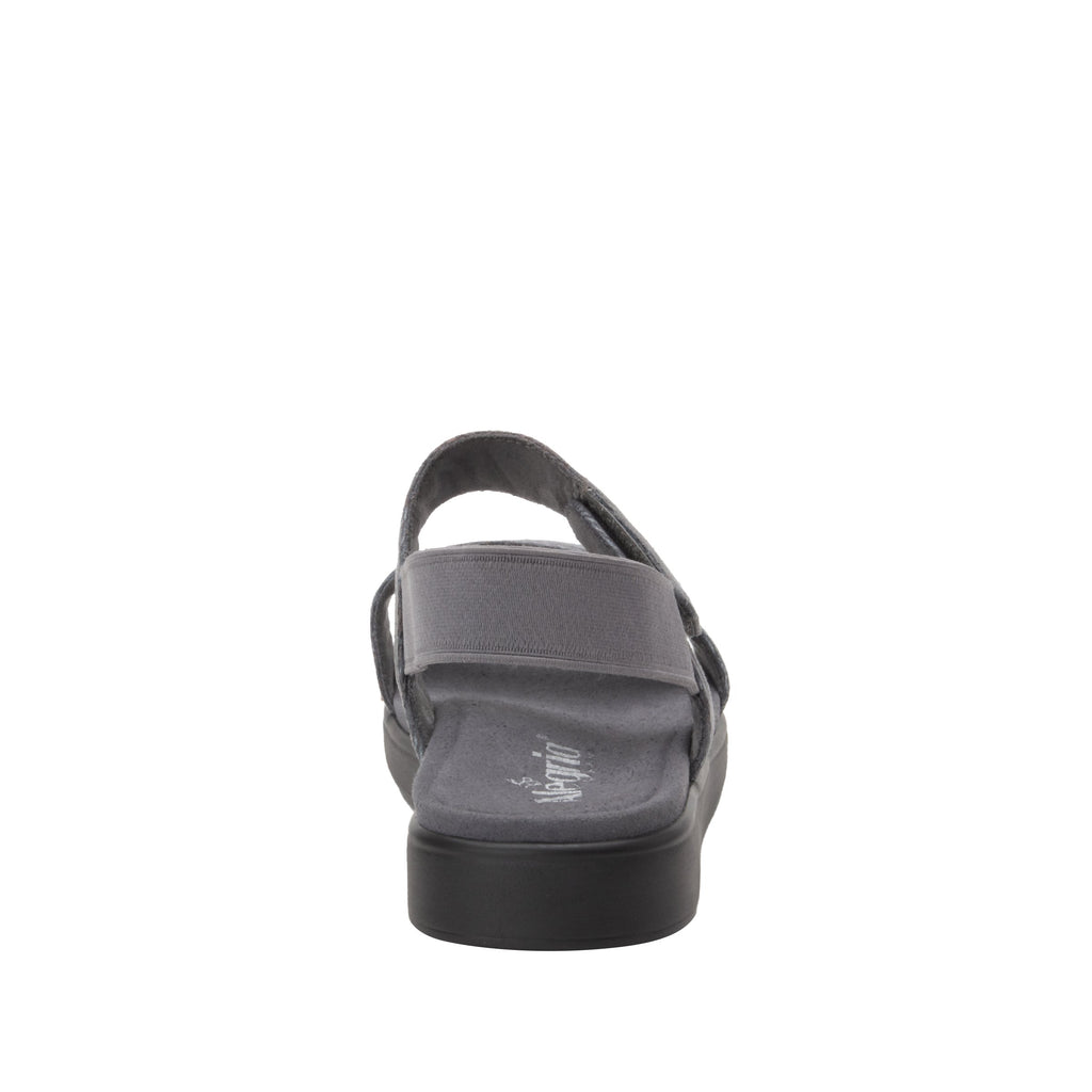Leah Smoke Comfort Flat sandal with two adjustable hook and loop closures and featherweight slip-resistance - LEA-7763_S3