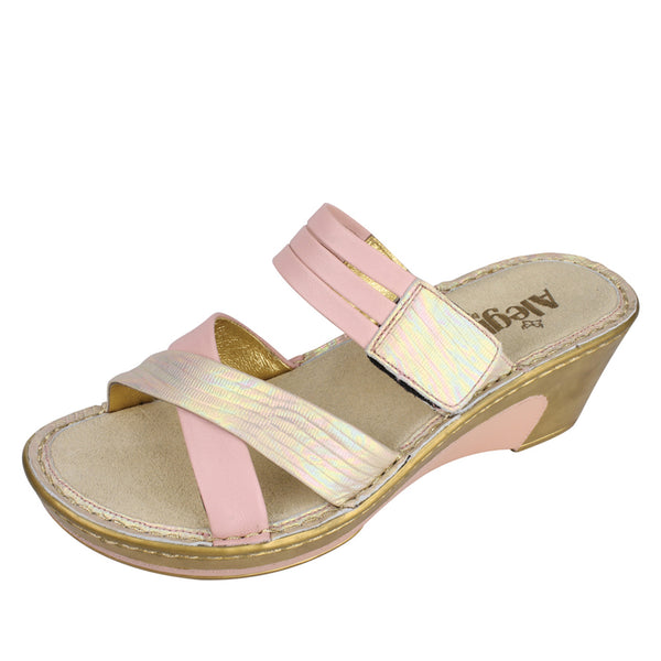 Leila Abalone Wedge - Alegria Shoes