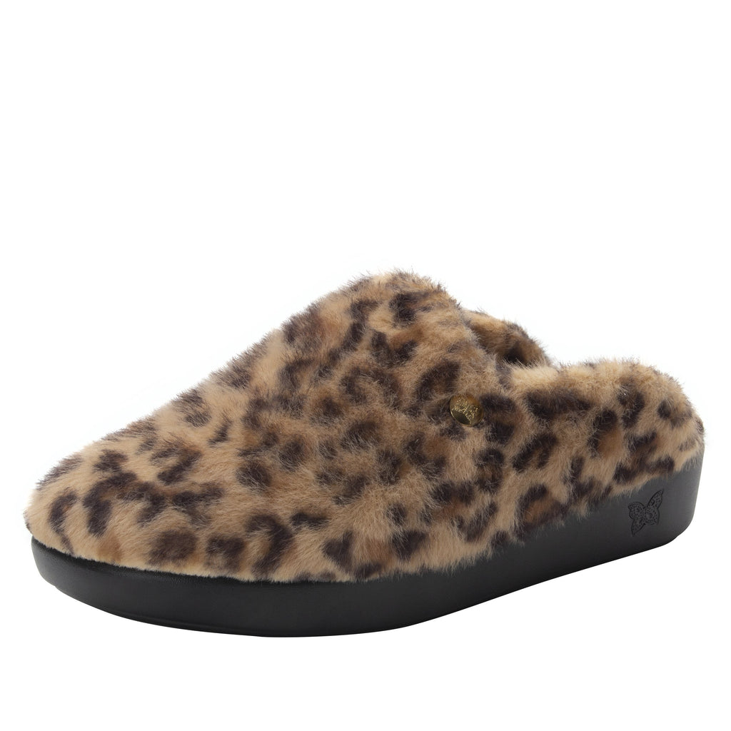 Leisurelee Leopard vegan shearling slipper - LEI-7903_S1