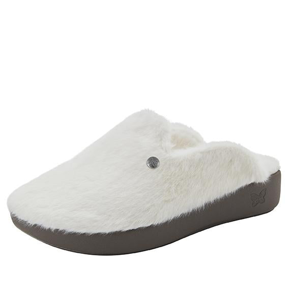 Leisurelee White vegan shearling slipper - LEI-7948_S1