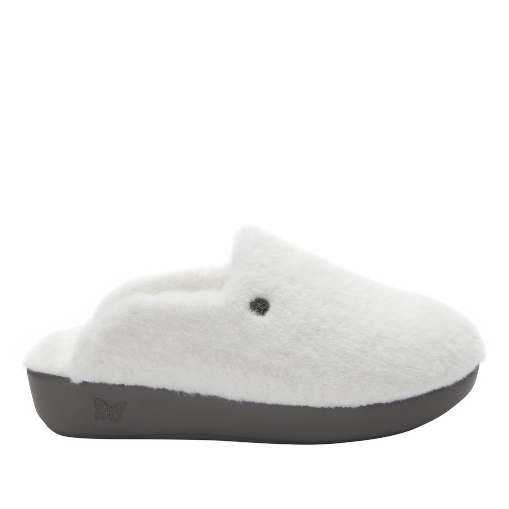 Leisurelee White vegan shearling slipper - LEI-7948_S2