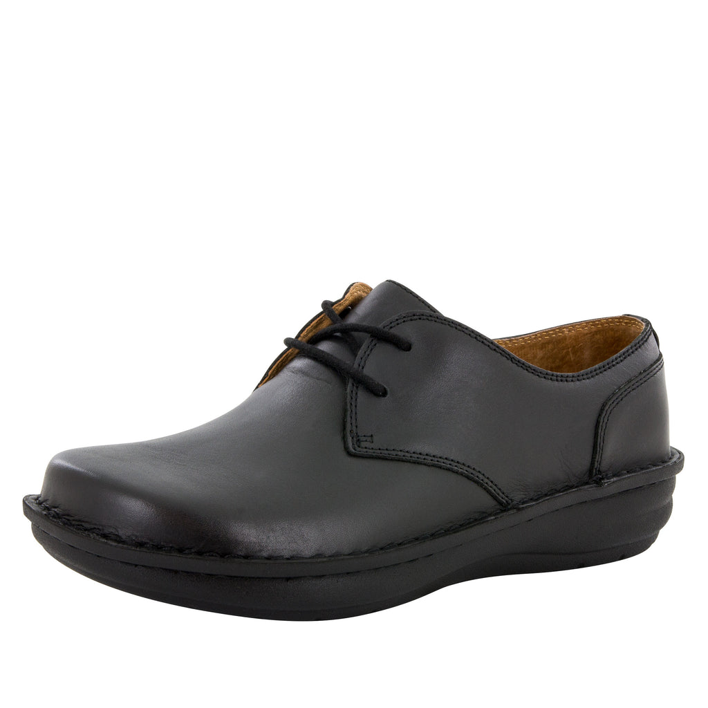 Alegria Men's Liam Black Nappa Shoe - Alegria Shoes