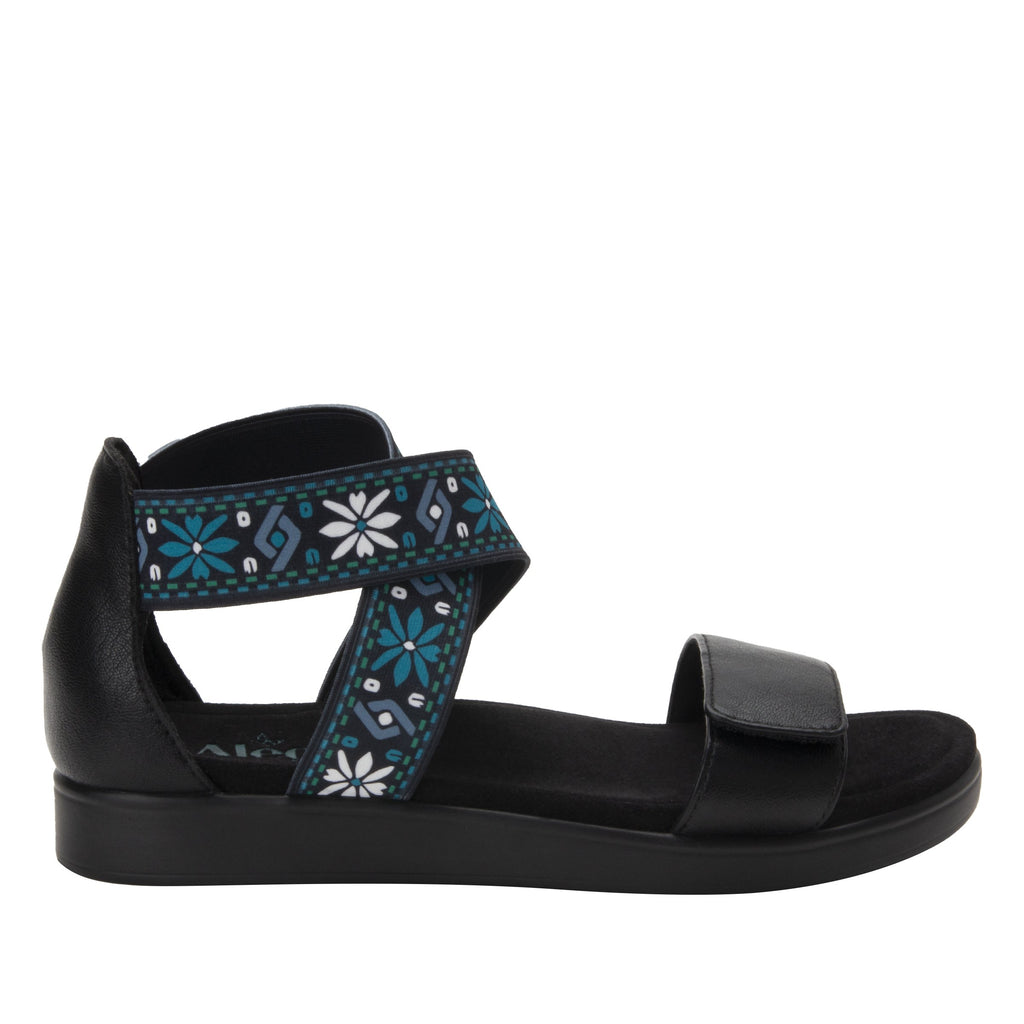 Lucia Aqua Comfort Flat sandal with criss cross elastic ankle strap and featherweight slip-resistance - LUC-7765_S2