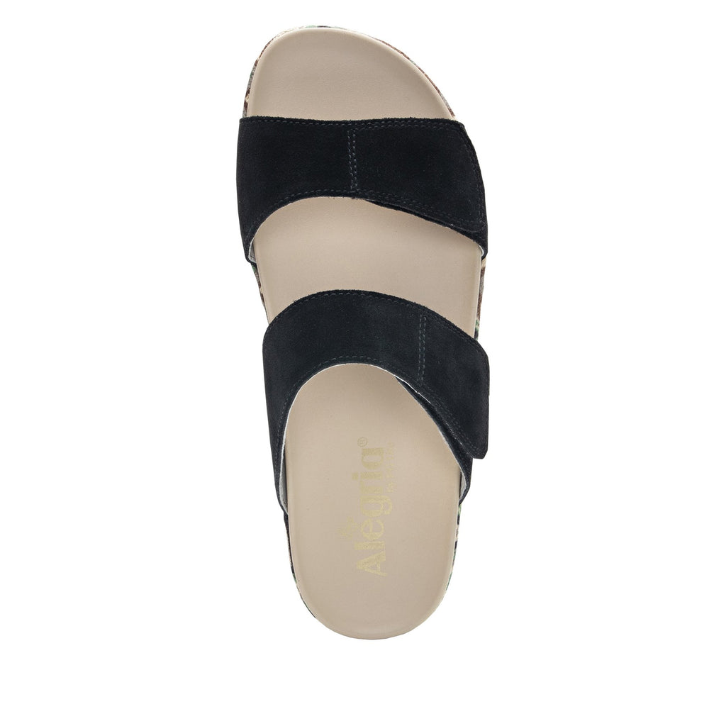 Maisie Peru Dreams Slide sandal with fabric wrapped Heritage Platform outsole and leather wrapped footbed - MAI-141_S4